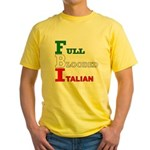 Full Blooded Italian Yellow T-Shirt