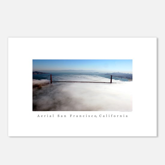 San Francisco Aerial Skylines Postcards (6)