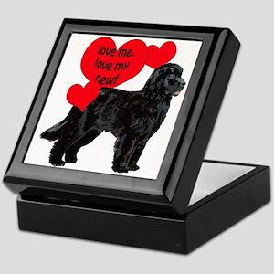 black newf love Keepsake Box