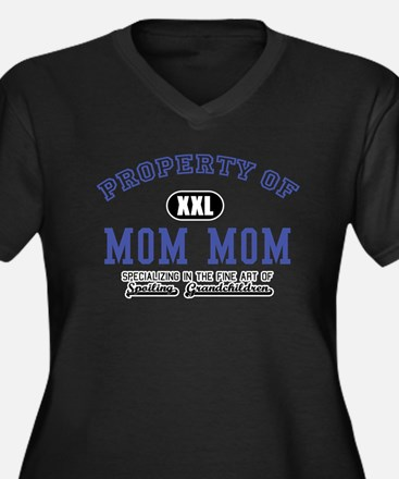Property of Mom Mom Women's Plus Size V-Neck Dark