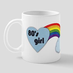 80's girl (black print) Mug