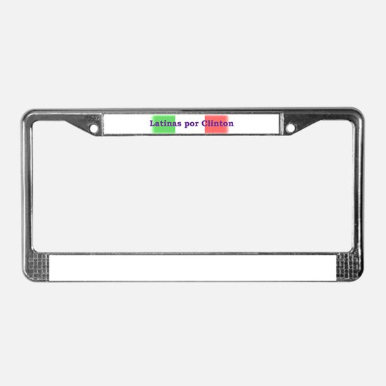 Unique Chicana License Plate Frame