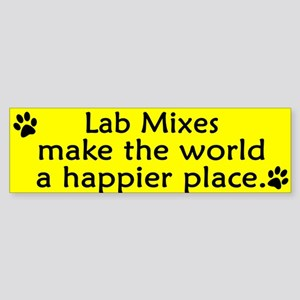 Happy Place Lab Mix Bumper Sticker