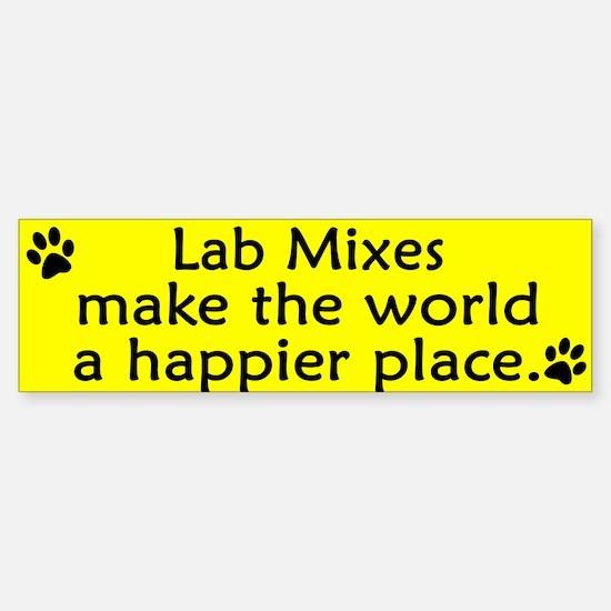 Happy Place Lab Mix Bumper Bumper Bumper Sticker