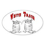 White Trash Apparel Oval Sticker