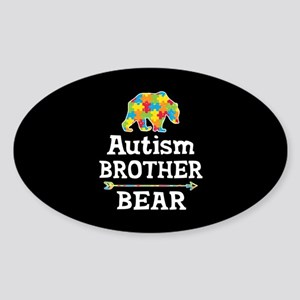 Autism Brother Bear Sticker (Oval)