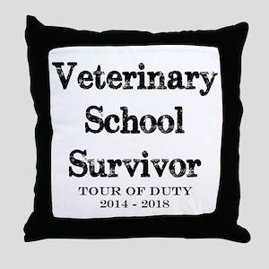 Vet School Survivor 2018 Throw Pillow