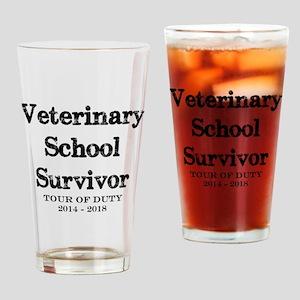 Vet School Survivor 2018 Drinking Glass