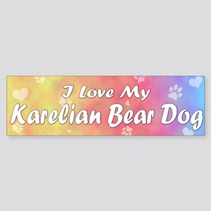 Pastel Love Karelian Bear Dog Bumper Sticker