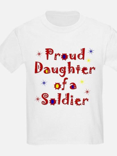 Proud Daughter Colorful Kids T-Shirt