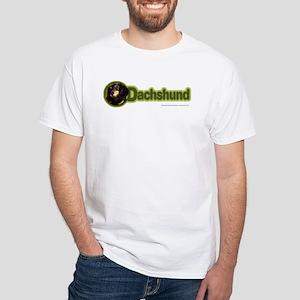 Long-Haired Dachshund White T-Shirt