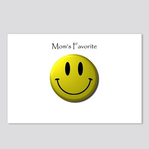 Mom's Favorite Smiley Face Postcards (Package of 8