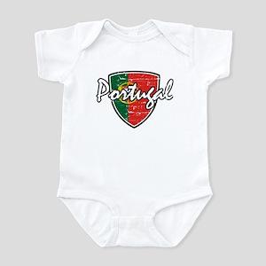 Portuguese distressed Flag Infant Bodysuit
