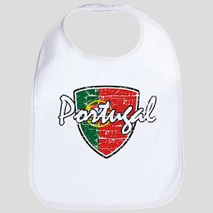 Portuguese distressed Flag Bib