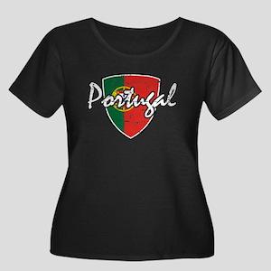 Portuguese distressed Flag Women's Plus Size Scoop