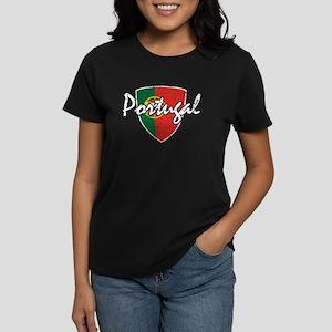 Portuguese distressed Flag Women's Dark T-Shirt