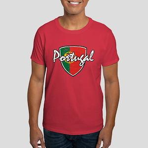 Portuguese distressed Flag Dark T-Shirt