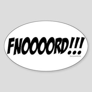 FNOOOORD!!! Oval Sticker (10 pk)