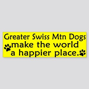 Happy Place Greater Swiss Mtn Dog Bumper Sticker