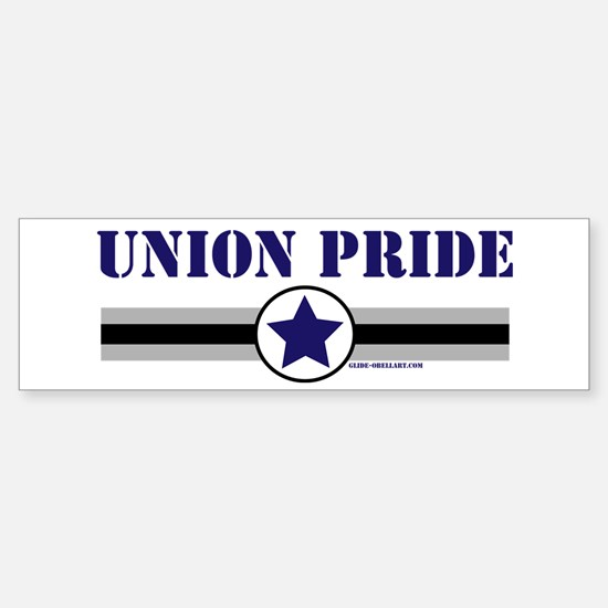 UNION PRIDE STAR Bumper Bumper Bumper Sticker