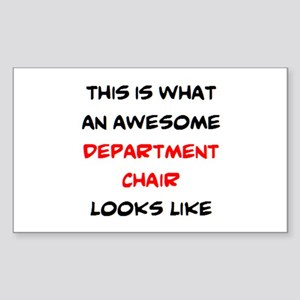 awesome department chair Sticker (Rectangle)