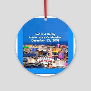Robin & Kenny Las Vegas Ornament (Round)