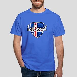 Iceland distressed Flag Dark T-Shirt
