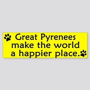 Happy Place Great Pyrenees Bumper Sticker