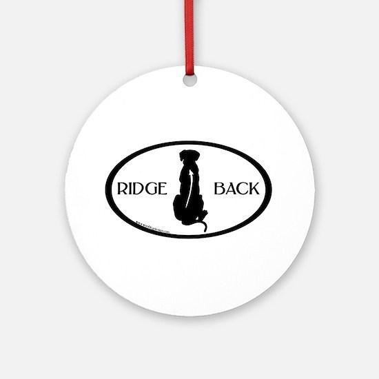 Ridgeback Oval W/ Text Ornament (Round)