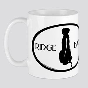 Ridgeback Oval W/ Text Mug