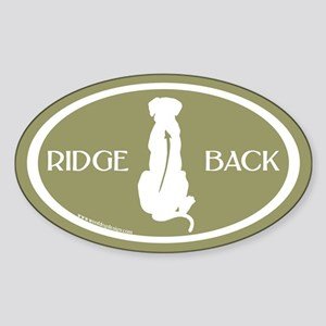 Ridgeback Oval W/ Text (white/sage) Oval Sticker