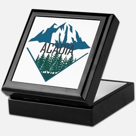 Unique Acadia Keepsake Box