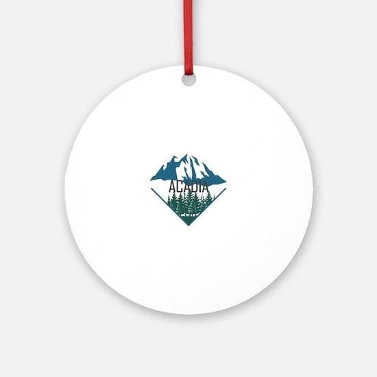 Cute Acadia Round Ornament