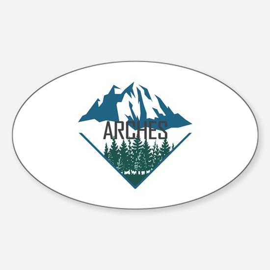 Cute Architectural elements Sticker (Oval)