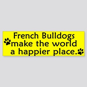 Happy Place French Bulldog Bumper Sticker