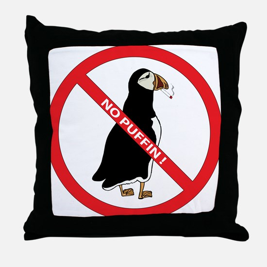 No Puffin Throw Pillow