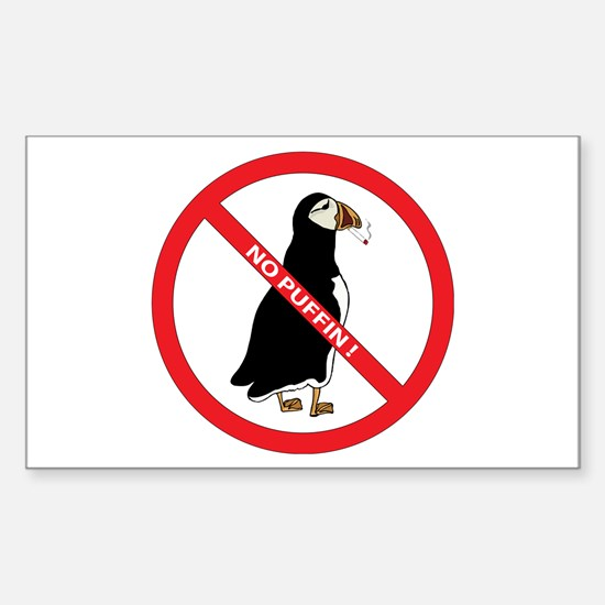 No Puffin Rectangle Decal