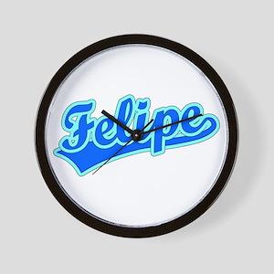 Retro Felipe (Blue) Wall Clock