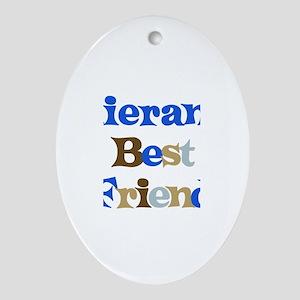 Kieran's Best Friend Oval Ornament