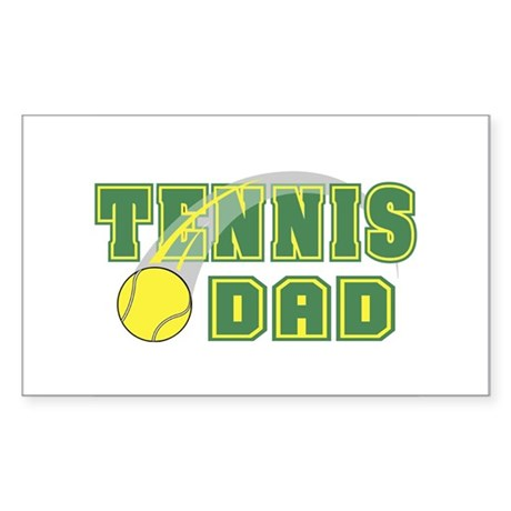Tennis Dad Rectangle Sticker