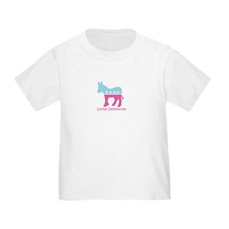 Little Democrat - Girly Toddler T-Shirt