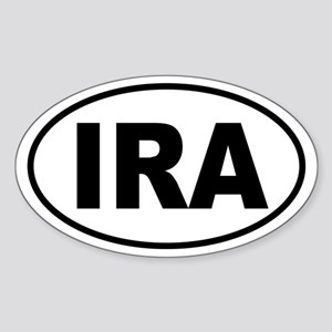 """IRA Euro Tag"" Oval Sticker"