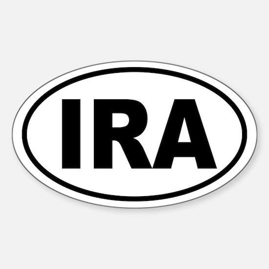"""IRA Euro Tag"" Oval Decal"