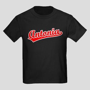 Retro Antonia (Red) Kids Dark T-Shirt