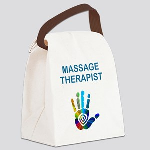 MASSAGE THERAPIST w HAND Canvas Lunch Bag