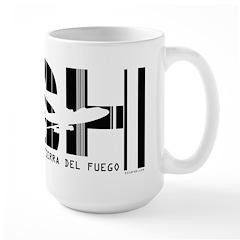 Tierra del Fuego Argentina USH Air Wear Large Mug