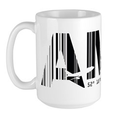 Amsterdam Netherlands AMS Air Wear Large Mug