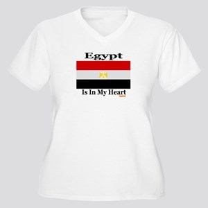 Egypt - Heart Women's Plus Size V-Neck T-Shirt
