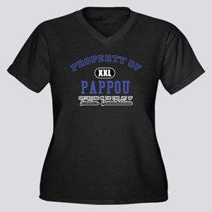 Property of Pappou Women's Plus Size V-Neck Dark T