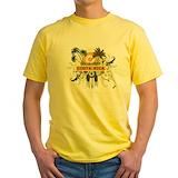 Costa rica Mens Classic Yellow T-Shirts